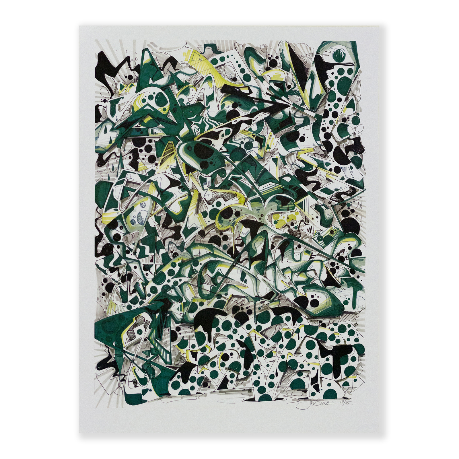 Green Swet Print